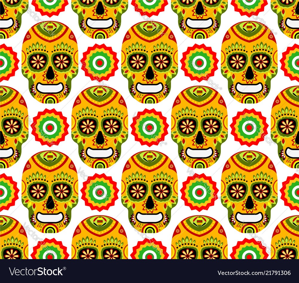 Pattern for mexican day dead