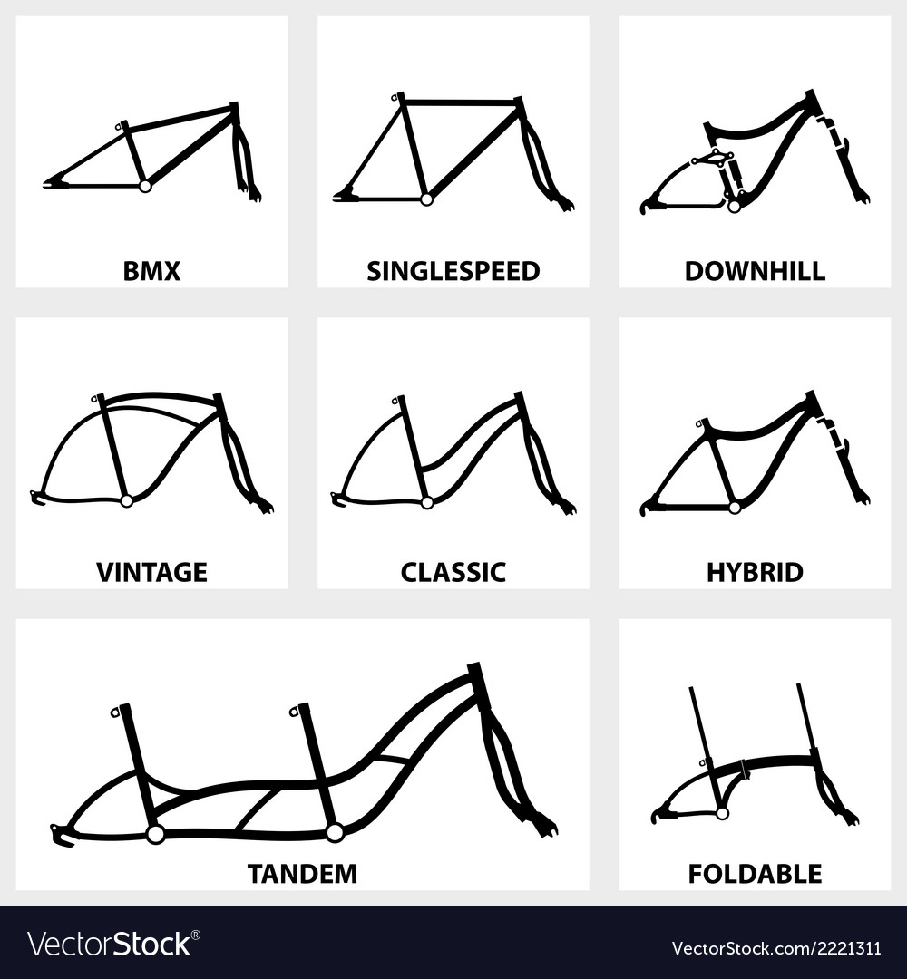 Front Mountain Bike Vector Images 61 Bicycle Anatomy Diagram