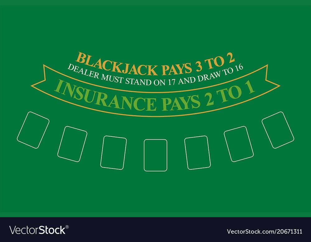 Beau Blackjack Table Top View Vector Image