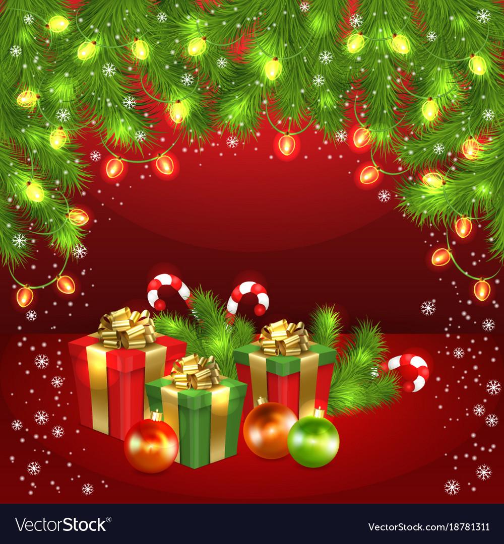 Christmas Gift Box Ball Candy Garland Fir Tree