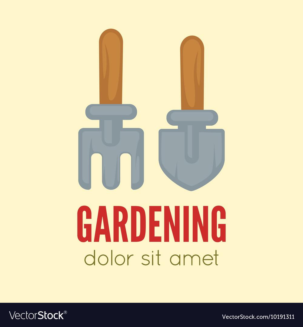 Garden center emblem or label badge logo