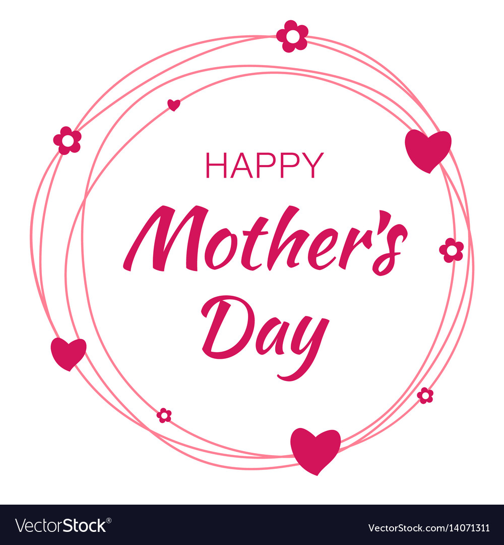Happy mothers day card lettering background