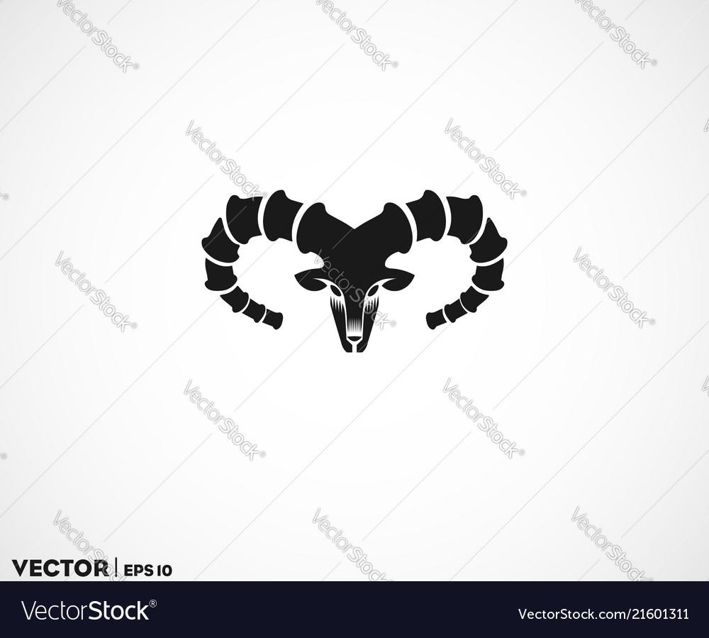 Ibex head big horn logo