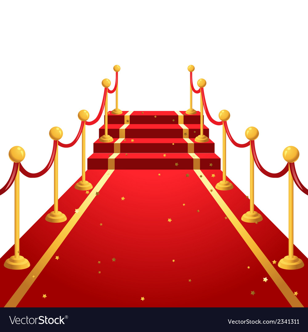 on the red carpet royalty free vector image vectorstock rh vectorstock com red carpet vector graphic red carpet background vector