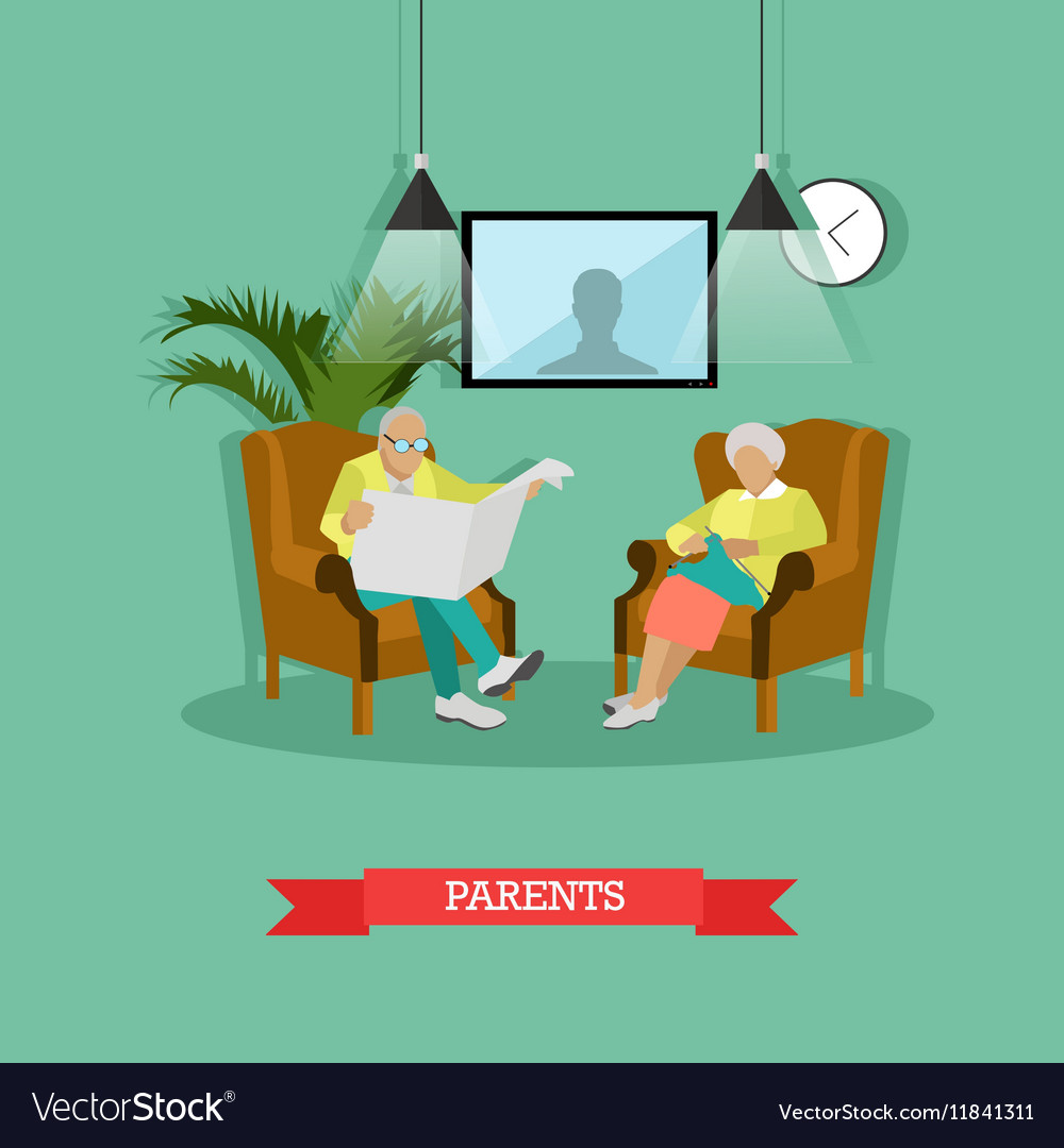 Parents man and woman vector image