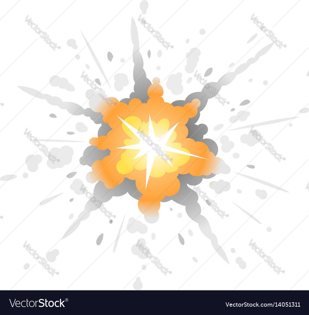Radial bomb explosion
