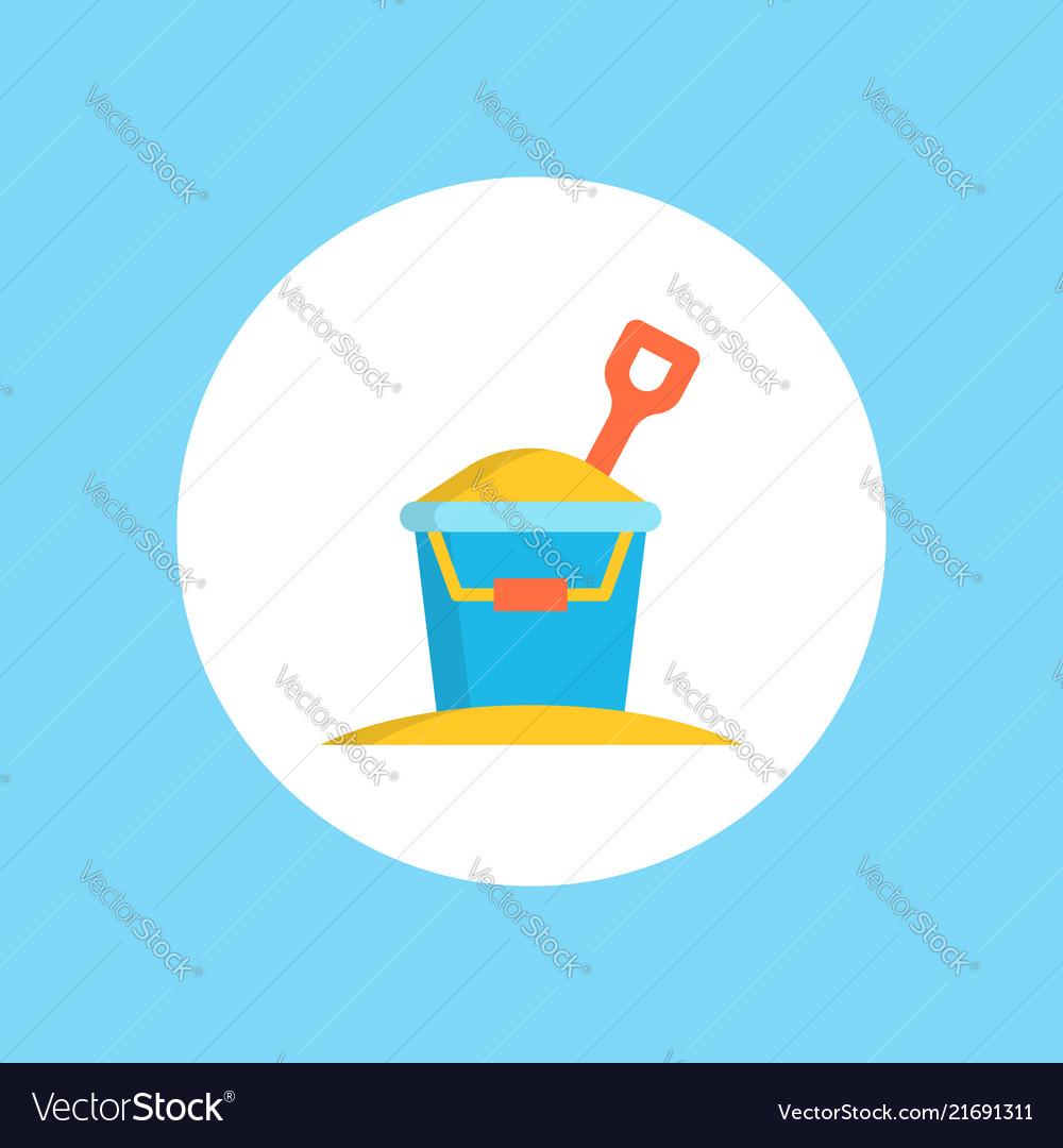 Sand bucket icon sign symbol
