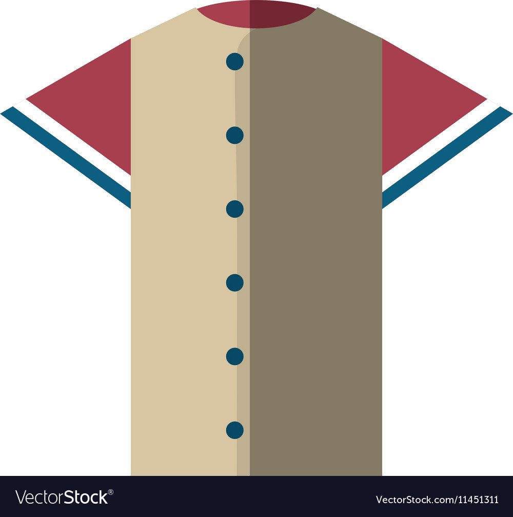 Shirt uniform baseball team icon