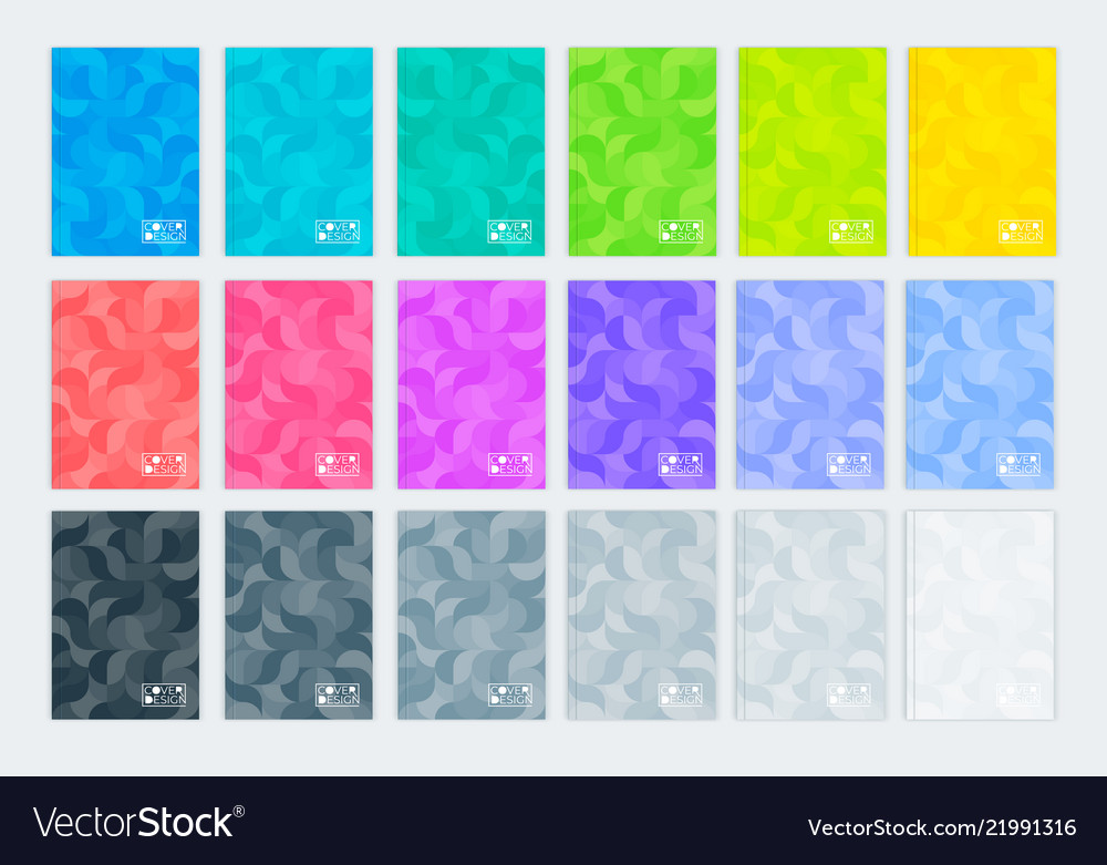 A set of templates vertical covers a4