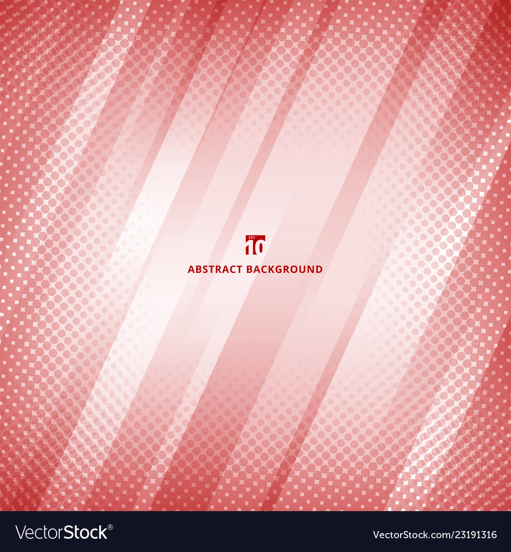 Abstract red and white color geometric technology