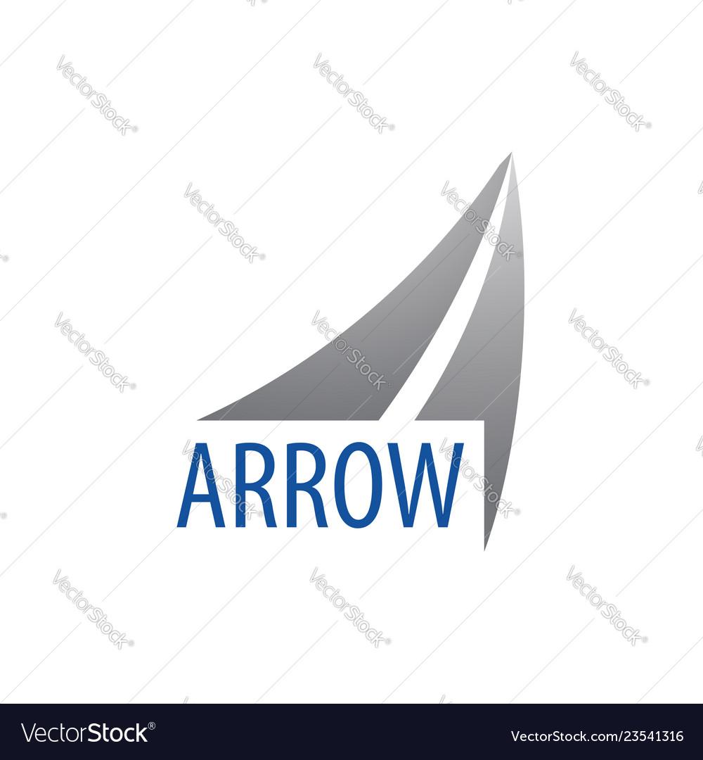 Arrow up logo concept design symbol graphic