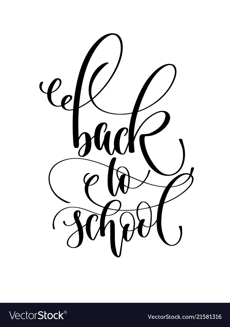 Back to school - hand lettering inscription text