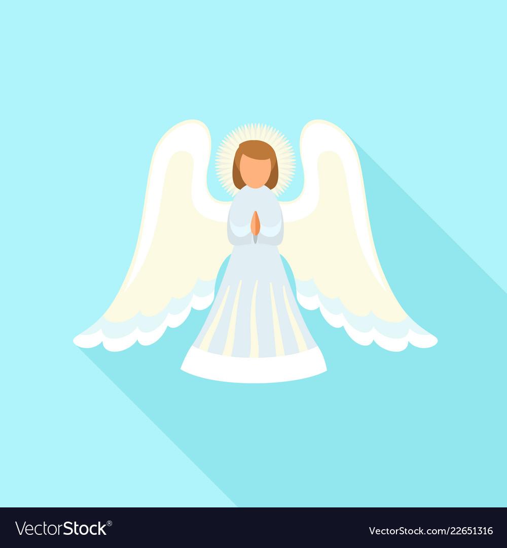 Christmas angel icon flat style