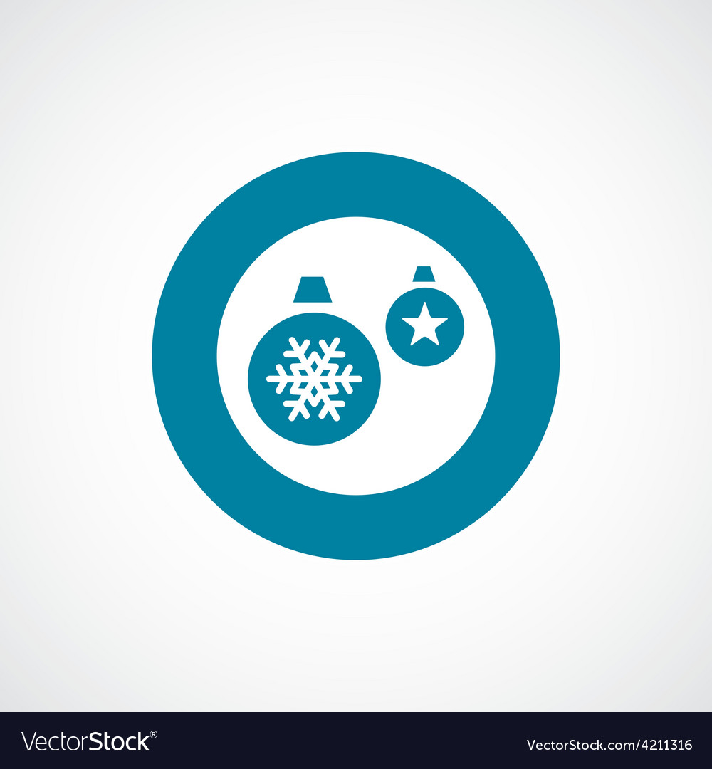 Christmas Decorations icon bold blue circle border