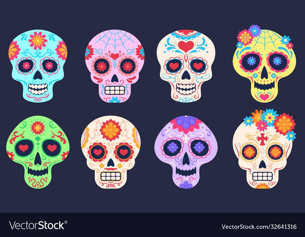 Dead day skulls dia de los muertos decoration