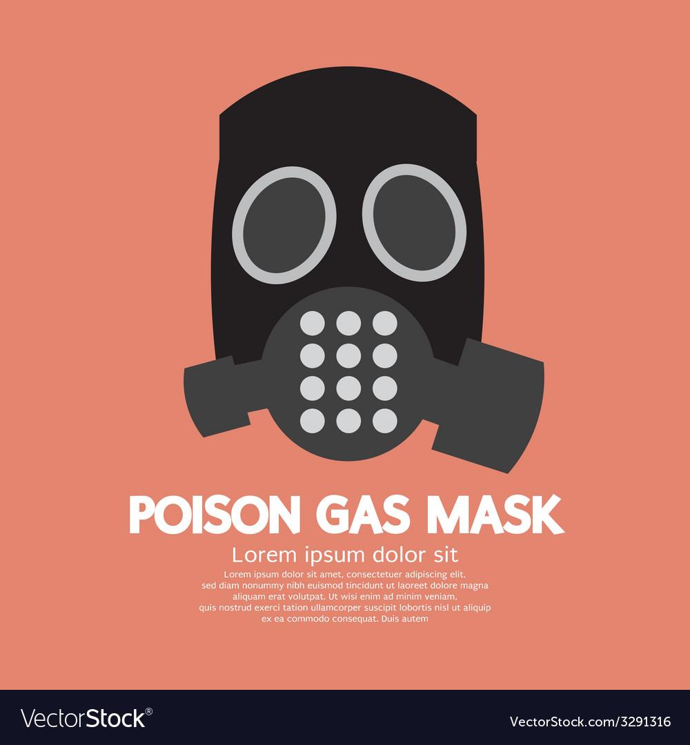 Flat Design Poison Gas Mask
