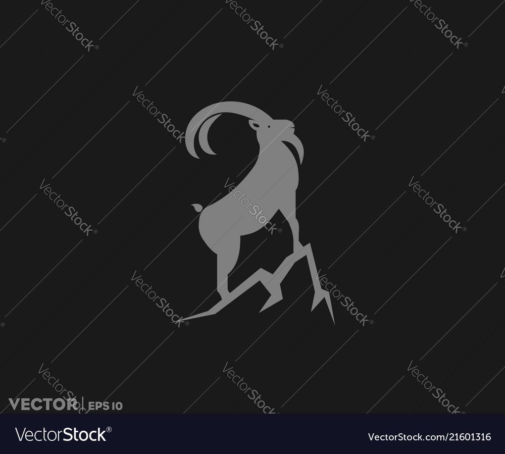 Ibex on mountain logo