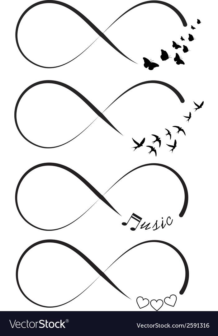 Infinity Symbols Royalty Free Vector Image Vectorstock
