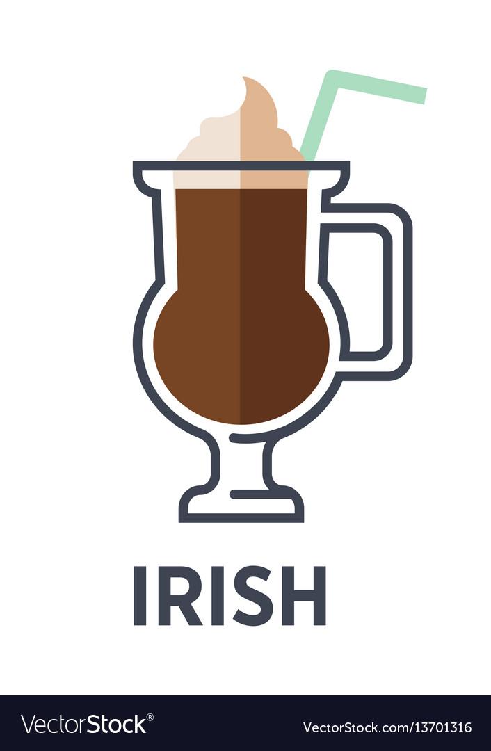 Irish isolated on white background cocktail vector image
