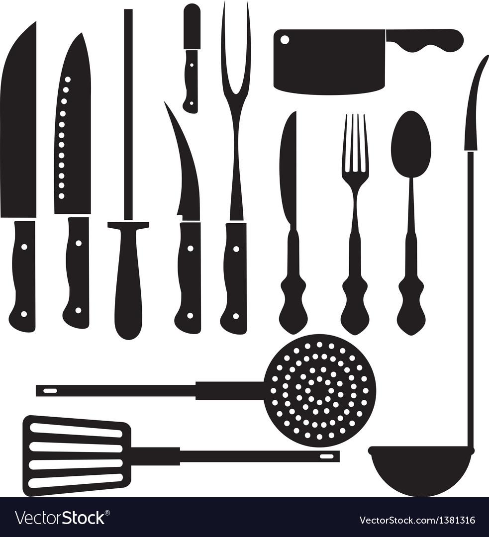 kitchen utensils silhouette vector free. Kitchen Tool Silhouette Vector Image Utensils Free S