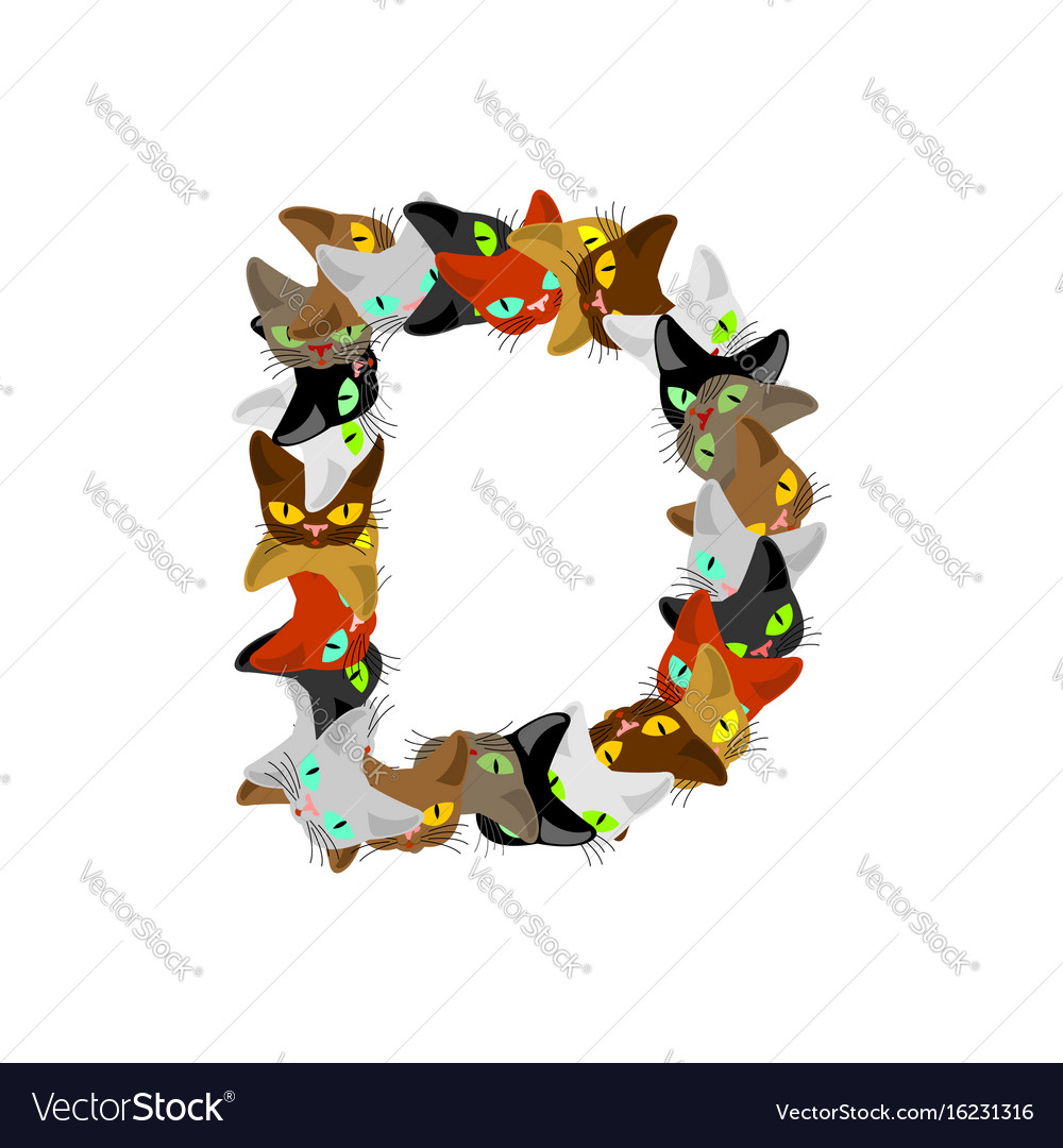 Letter d cat font pet alphabet symbol home animal