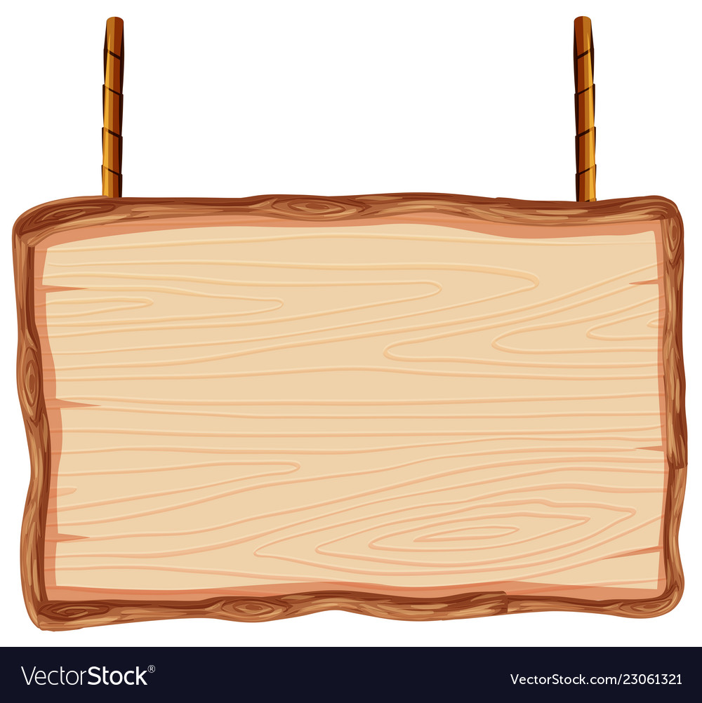 Wood banner. A wooden on white