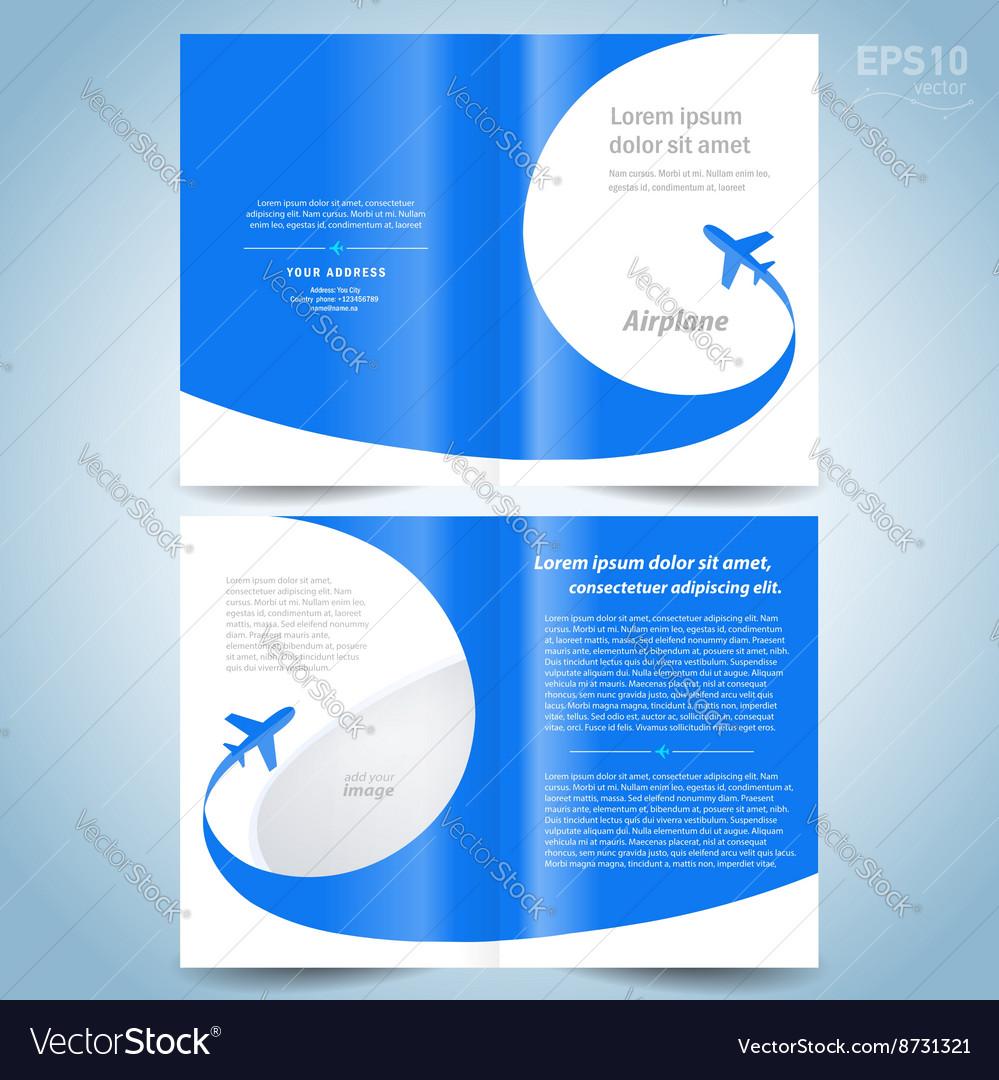 booklet catalog brochure design template folder vector image