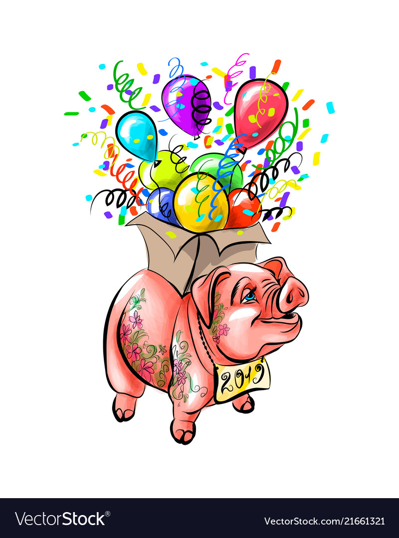Chinese zodiac sign year of pig happy chinese new