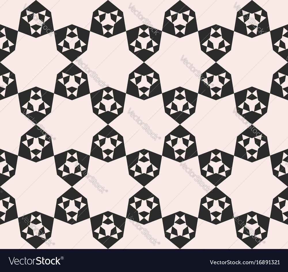 Floral seamless pattern mosaic stars background vector image