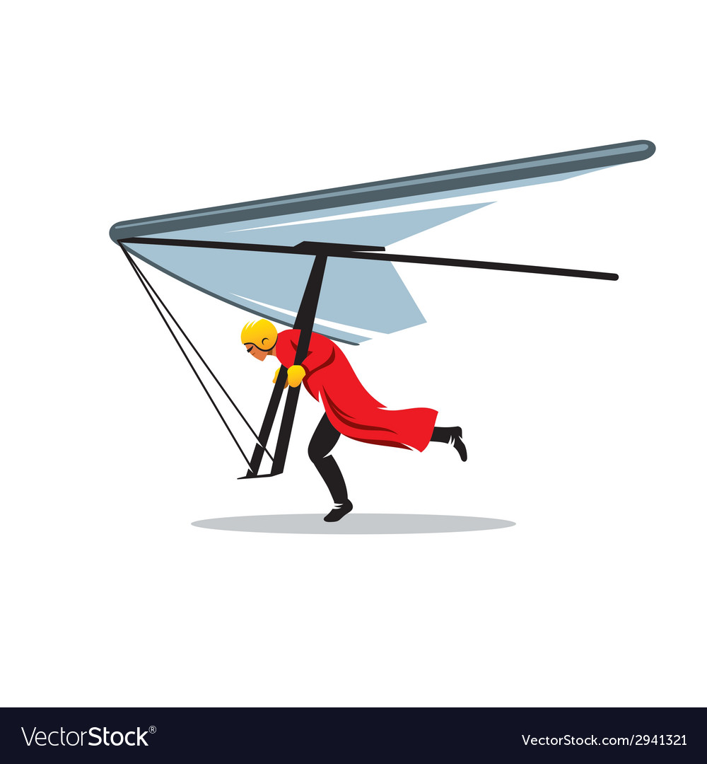 Hang gliding sign vector image