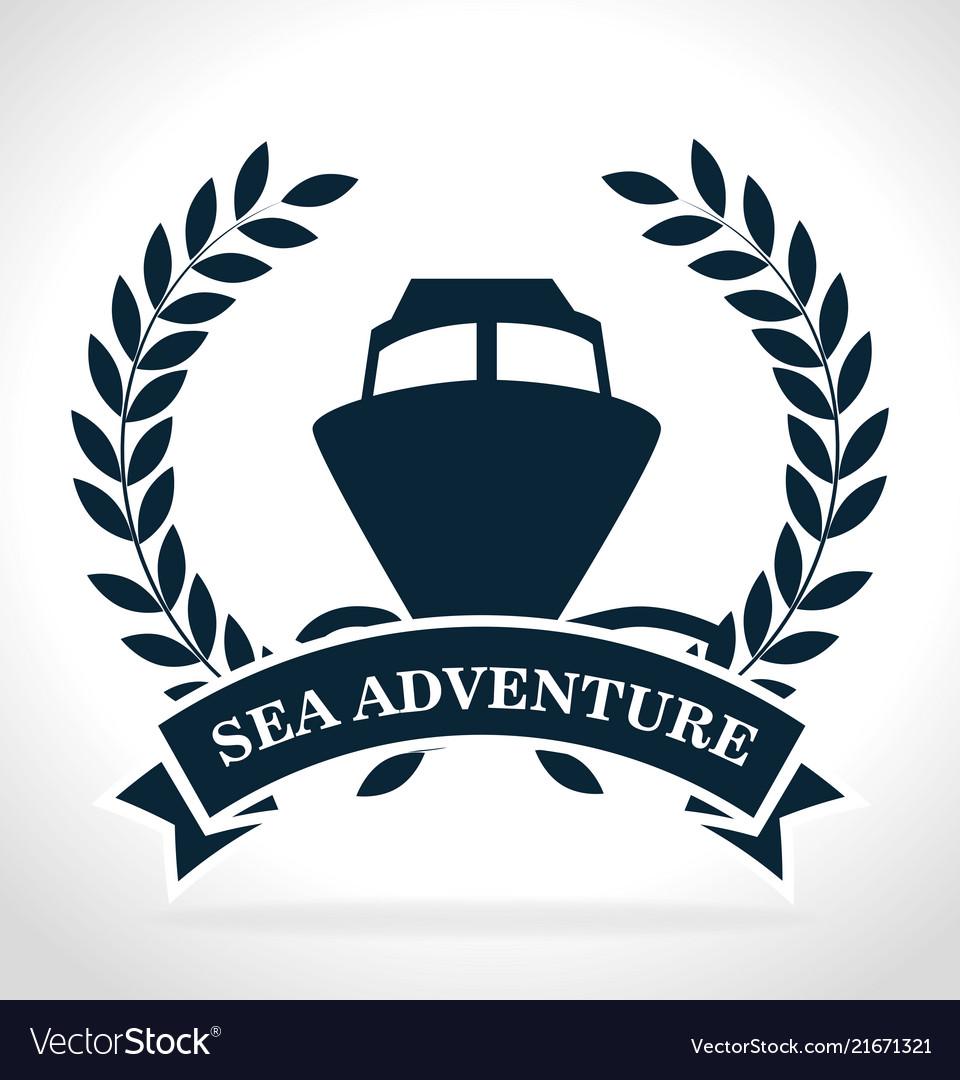 Sea adventure ship label