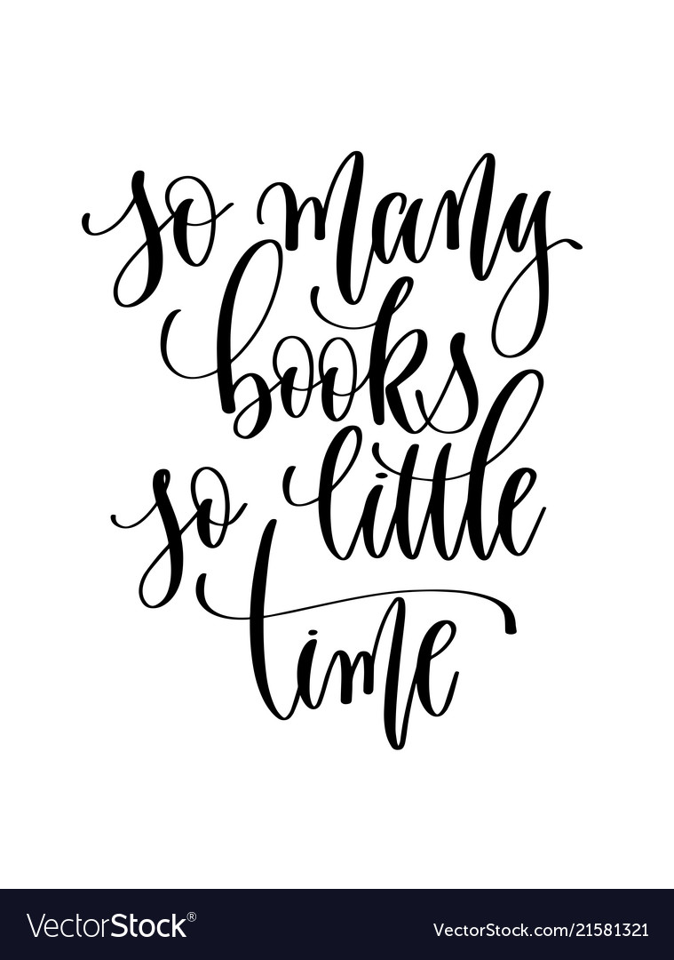 So many books so little time - hand lettering