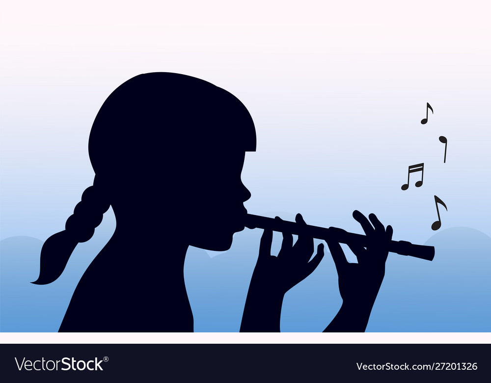 Child plays pipe
