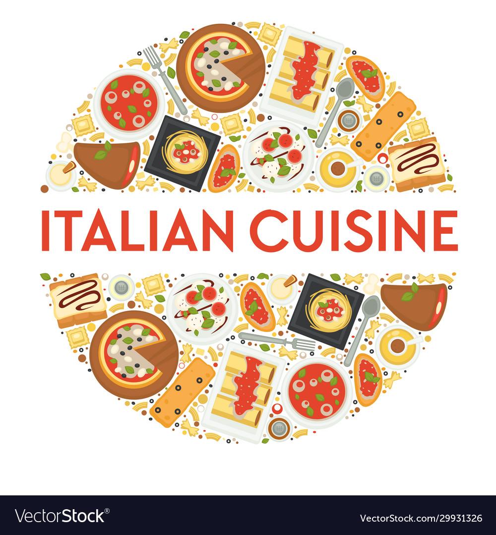 Italian cuisine menu food italy pizza and