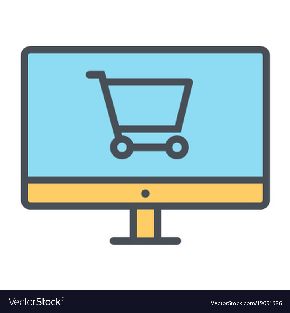Online shopping pixel perfect thin line icon 48x48