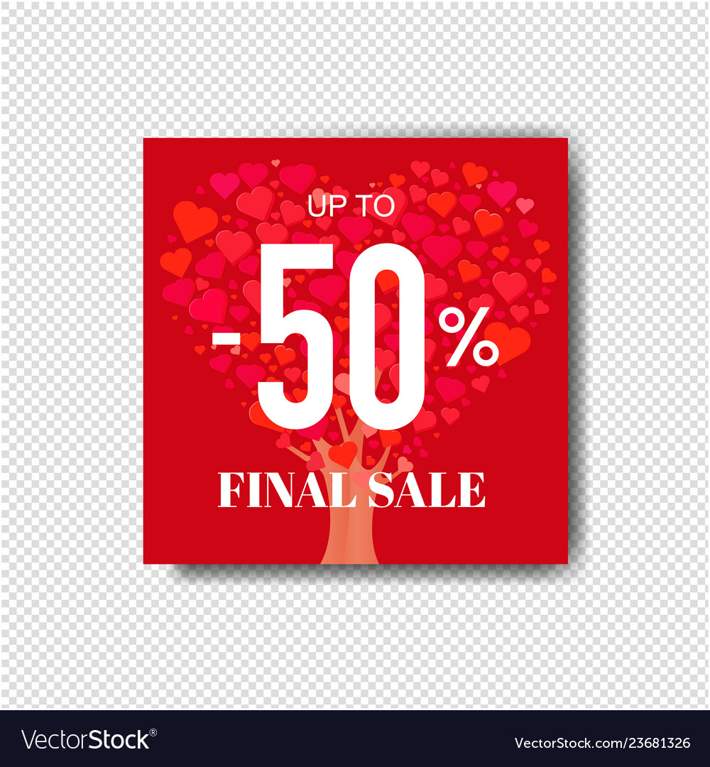 Sale poster with wood transparent background