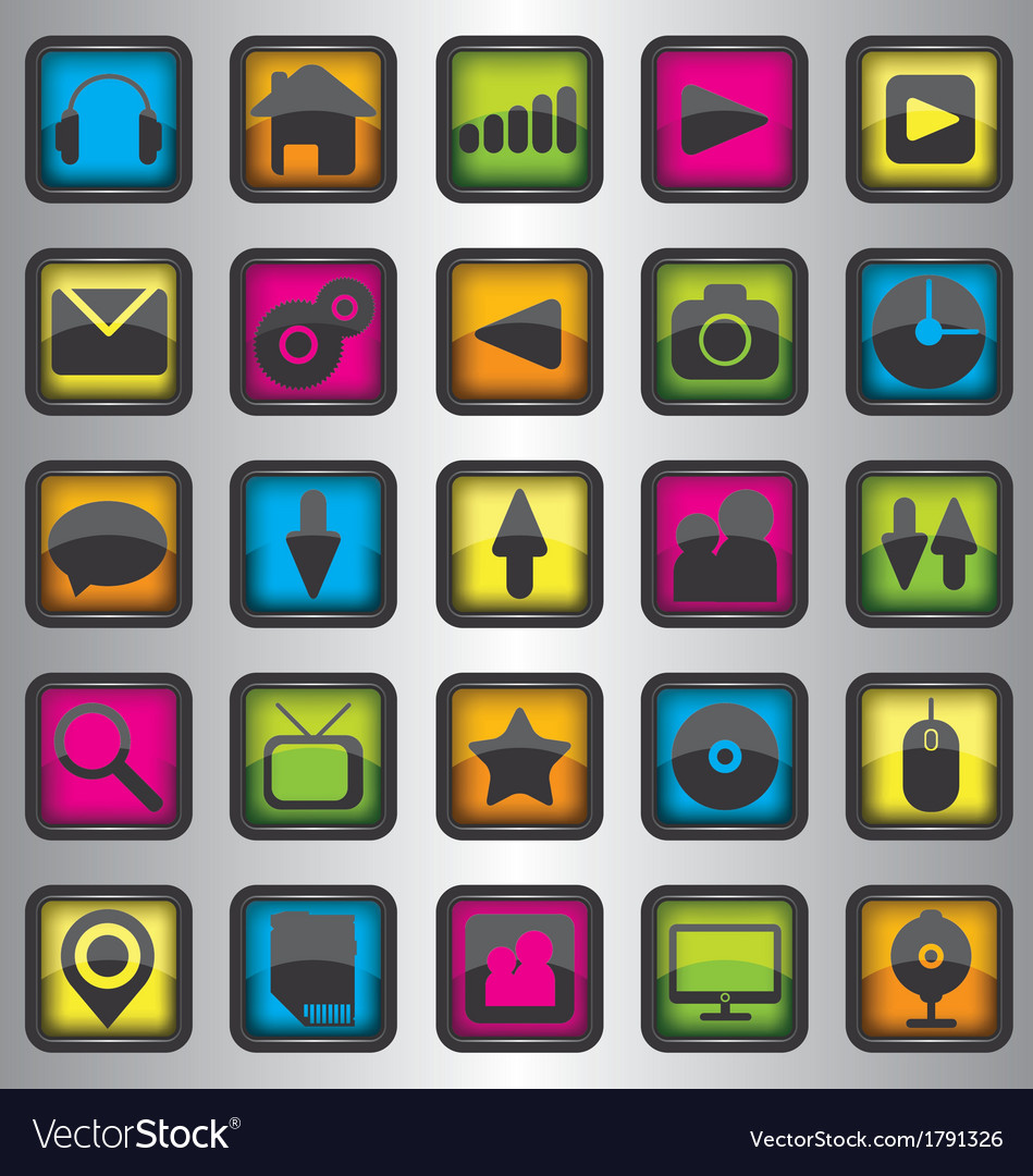 Set of color web icons
