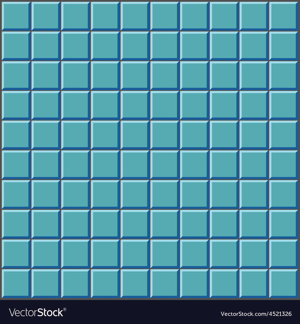 Stylized wall with blue tiles pattern Royalty Free Vector