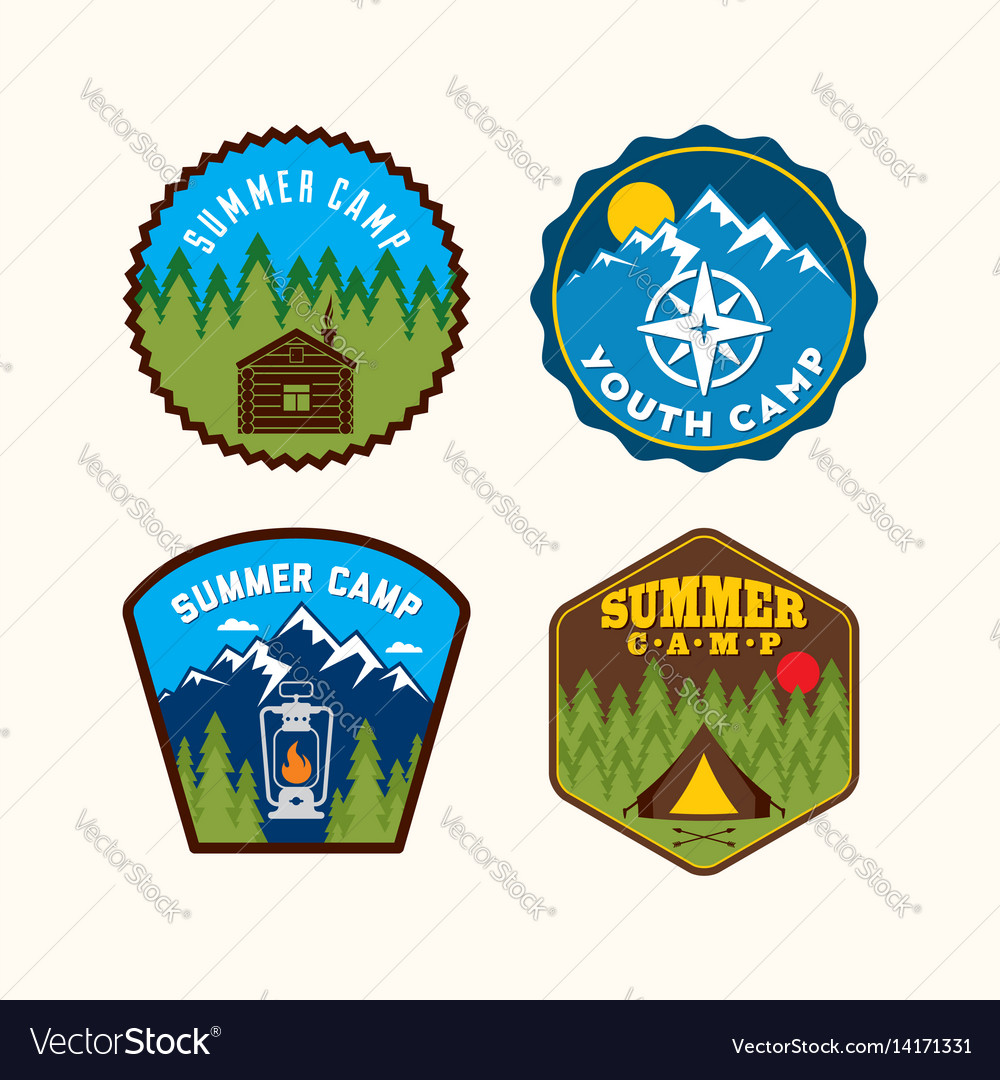 a set of christian logos of camps royalty free vector image