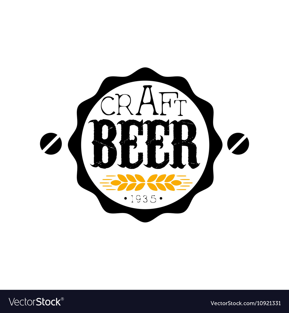 Craft Beer Round Logo Design Template Royalty Free Vector
