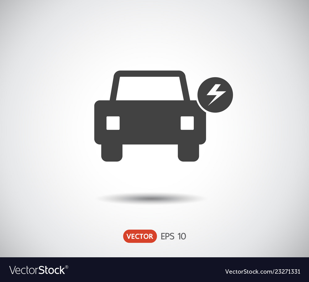 Electric icon car logo