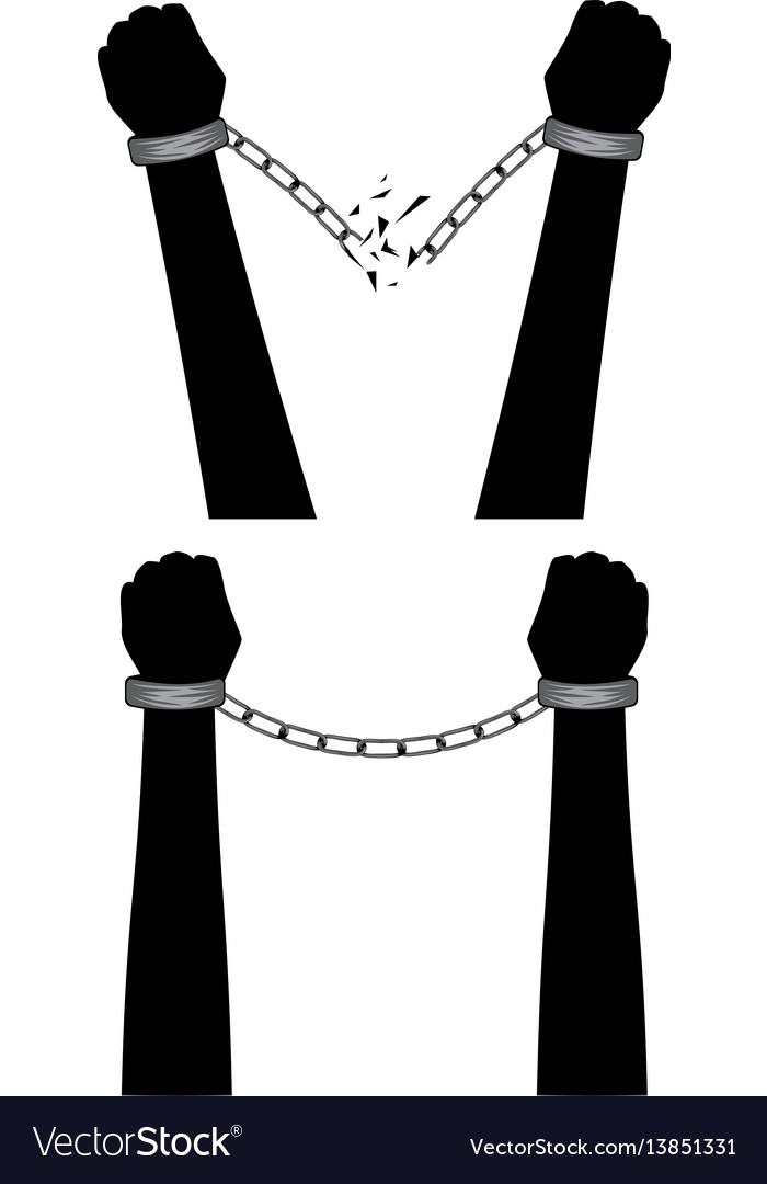 Hands in chains vector image