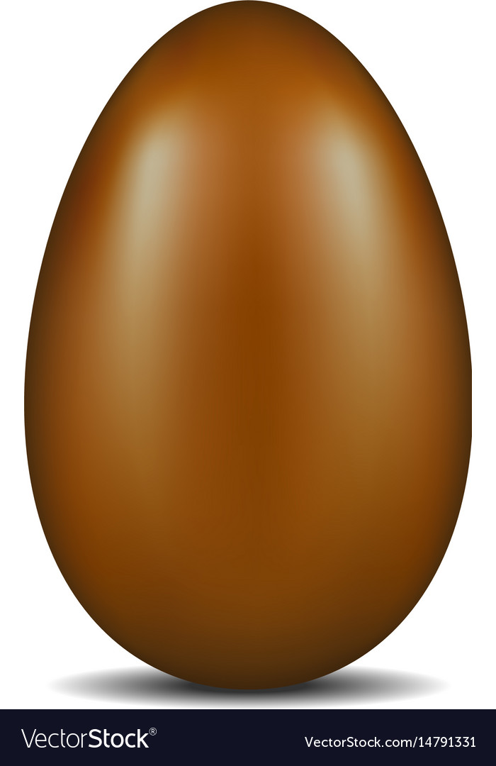 Single realistic chocolate egg with shadow