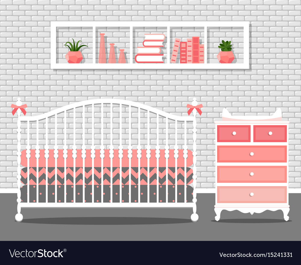 With baby bedroom