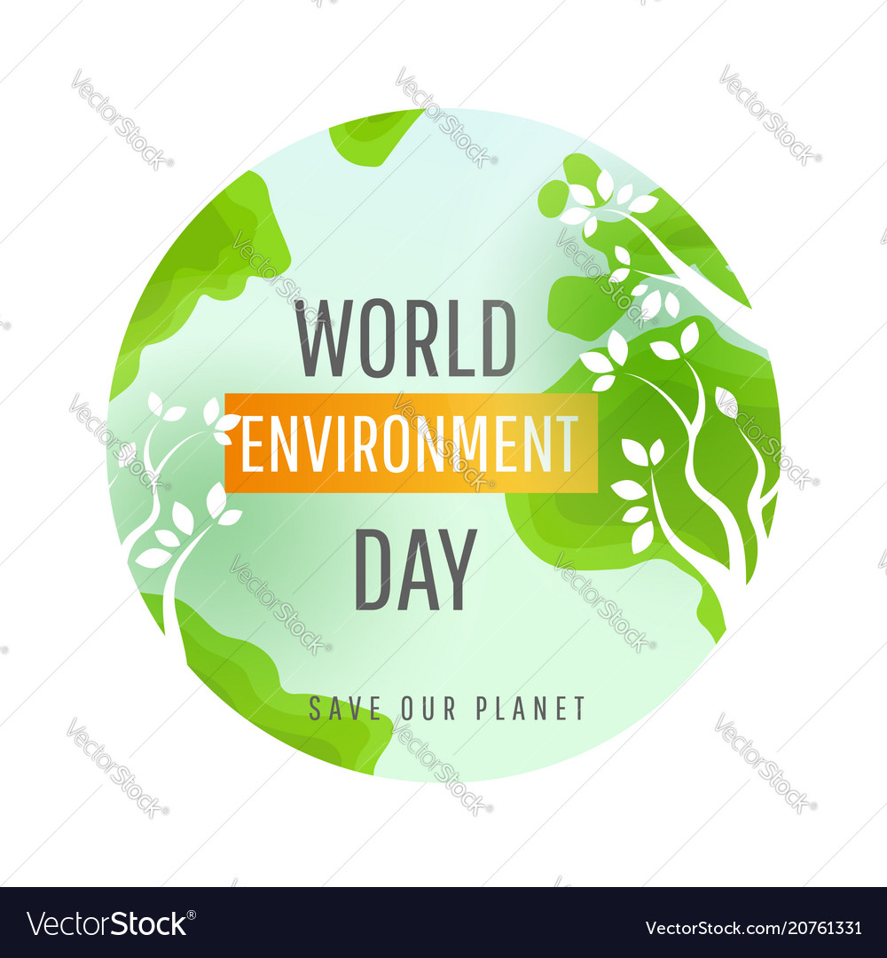 World environment day card poster