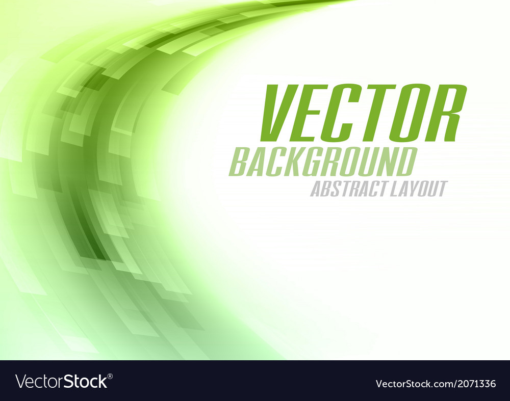 Background curve stripes green white vector image
