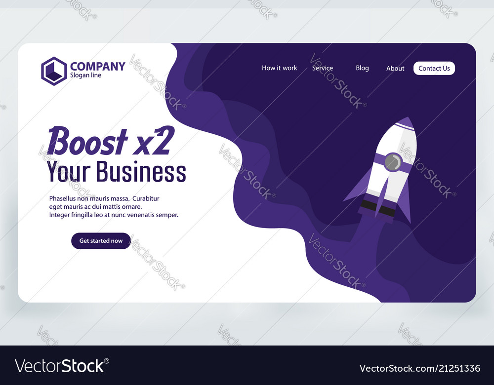 Boost business website landing page template