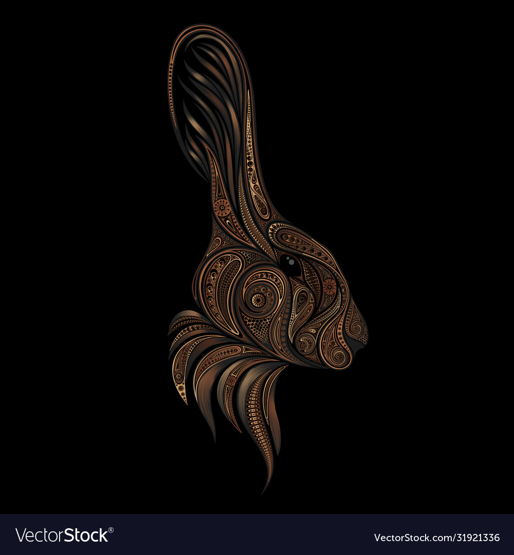 Brown rabbit from beautiful patterns