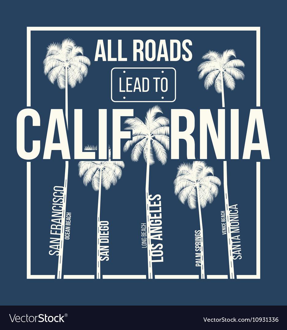 California t shirt graphic design