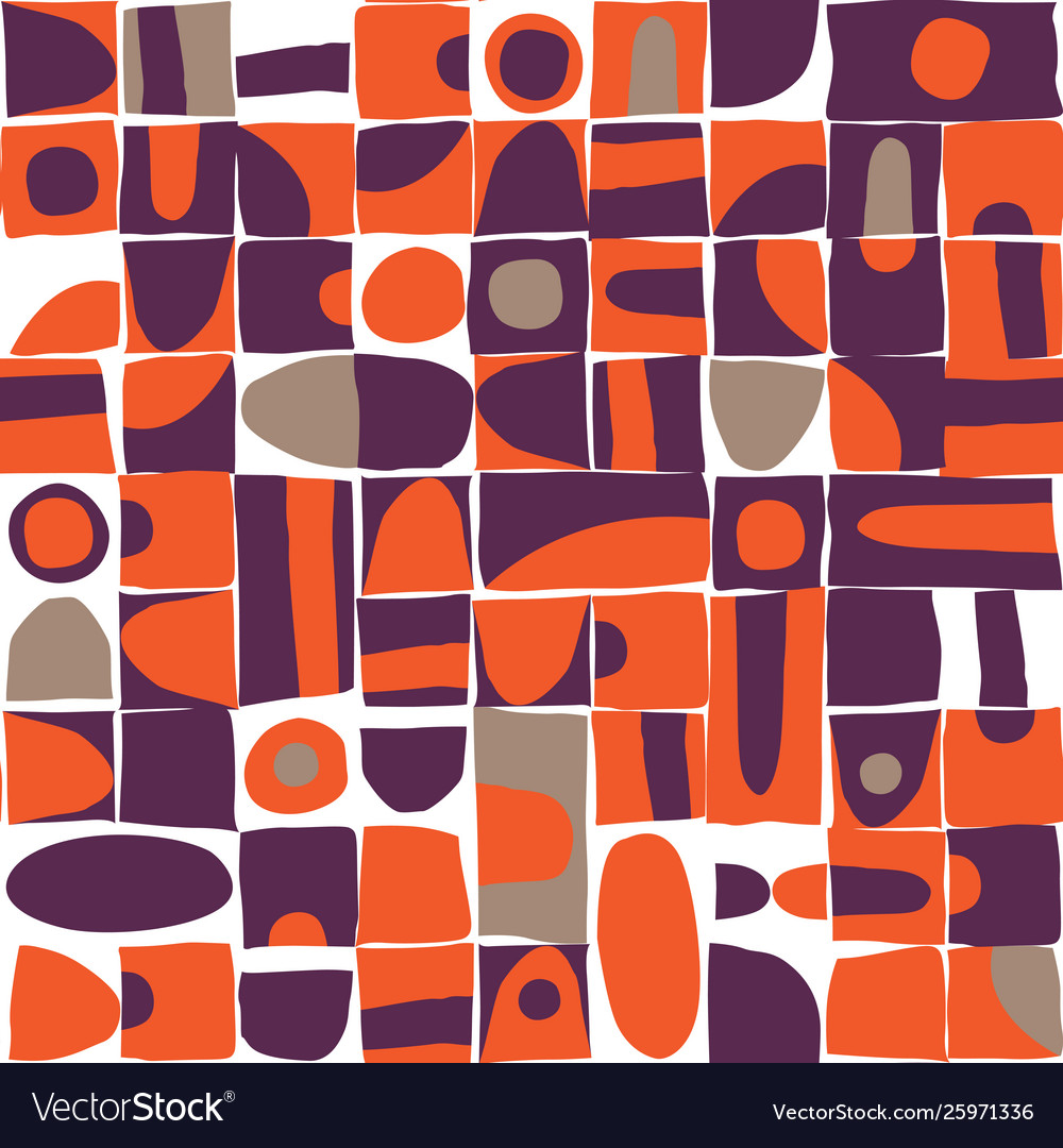 Sloppy geometric shapes seamless pattern